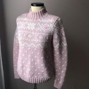 Ralph Lauren Angora Fair Isle Sweater S